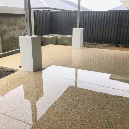 Honed Concrete Patio