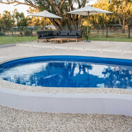 exposed aggregate pool surrounds