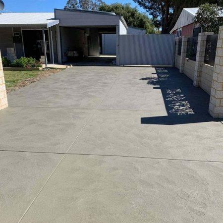 grey concrete driveway